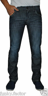 New Mens Boys Branded Mens Slim Straight Fit Denim Jeans One Wash Jeans BNWT