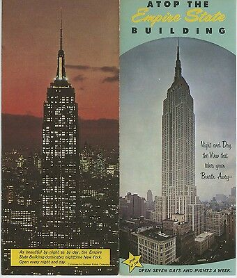 1960s Empire State Building Travel Brochure New York City NYC Vintage
