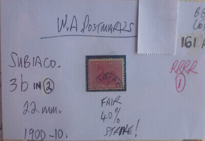 Old West Australia Postmark On Swan Stamp Subiaco 1900-10