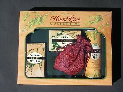 HUON PINE aftershave, soap, talc and sachet