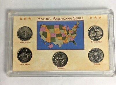 Coin Collection 1999 State Quarter Set of 5 Coins Historic Americana Series