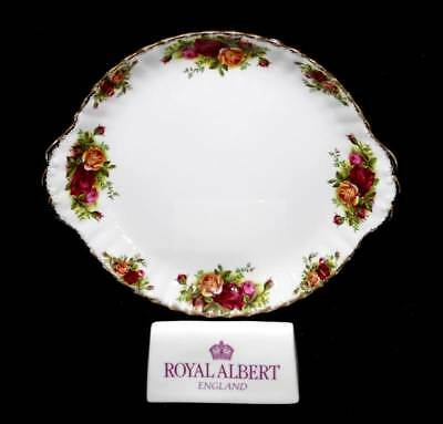 Vintage Royal Albert Old Country Roses two handled cake plate