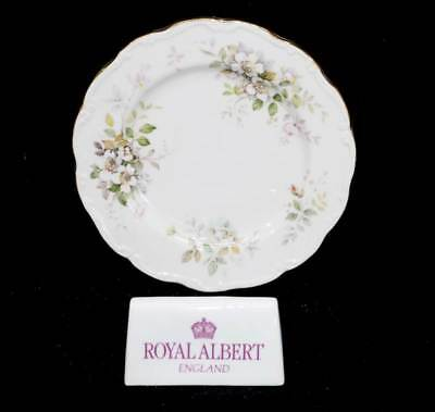 Vintage Royal Albert Haworth white roses small cake plate in lovely condition