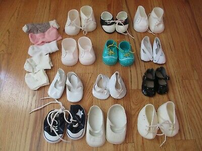 a5ff0e7820d0d NICE LOT OF Large Doll and Baby Doll Shoes and Socks, some Vintage