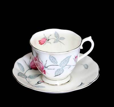 Vintage Royal Albert pretty pink roses teacup & saucer duo