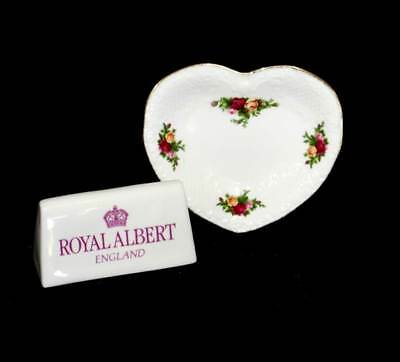 Vintage Royal Albert Old Country Roses pretty heart shaped dish