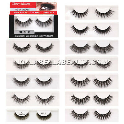66bb0d0de54 Cherry Blossom 3D Silk Eyelashes Glamour Voluminous False Extension *1 Style