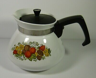 Vintage Corning Ware Spice of Life 6 Cup Tea Pot Kettle