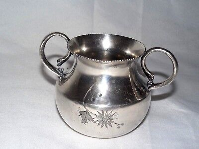 Antique Pairpoint Mfg Co. Quadruple Silverplate Two Handled Toothpick Holder