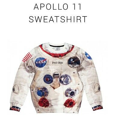 BNWT Fusion Clothing Apollo 11 sweatshirt US S size fits AU 10-12 comfortably