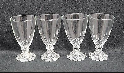 """Anchor Hocking Boopie Wine Water Goblets 4 1/2"""" Set Of Four"""