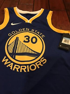 4c1f27239968 Men s Golden State Warriors Steph Curry Nike Blue Authentic Jersey Sz S 42   110
