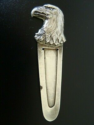 Tiffany & Co. Makers Eagle Head Bookmark Sterling Silver Rare Vintage
