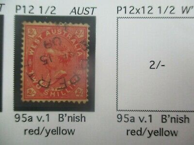 Western Australia Stamps: 2/- Queen Victoria Used   - Rare Item     (a127)