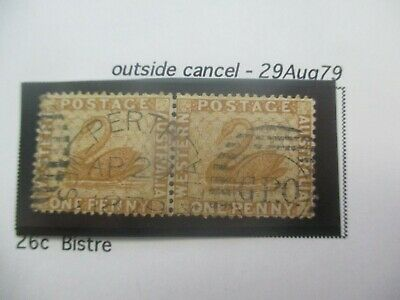Western Australia Stamps: 1d Bistre 26c Outside Cancel   - Rare Item (a133)