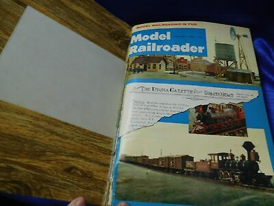 Model Railroader Magazine Complete Year 1968 These are privately bound.   Glued