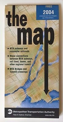 Deus Ex Subway Map.Vintage Original September 2003 New York Nyc Subway Map Mta Metro