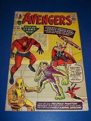 Avengers #2 Silver age 1st Space Phantom Hulk Key Wow Missing Ad Page