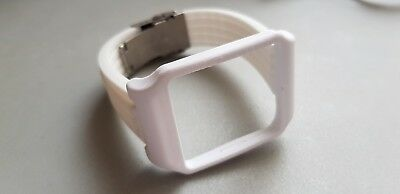 Sony SmartWatch 3 SWR50 WHITE Adapter & White Silicone Strap with Clasp