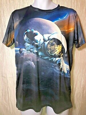 Lost Gods Wolf Astronaut Mens Graphic T Shirt
