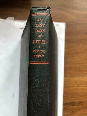 1947 THE LAST DAYS OF HITLER Book RARE First Edition WWII NAZI Military