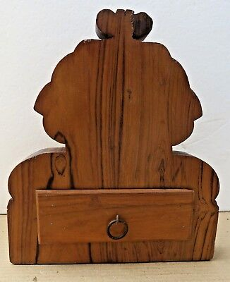 Antique Reclaim  Wood Corbel Corner Sconce Redefine Multi Use Chest Wall Decor-A