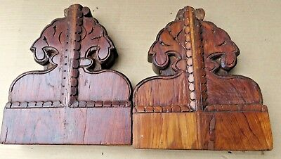 Antique Reclaim Carved Wood Corbel Corner Sconce Redefine Multi Use Wall Decor-3