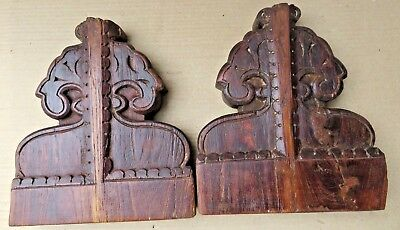 Antique Reclaim Carved Wood Corbel Corner Sconce Redefine Multi Use Wall Decor-4