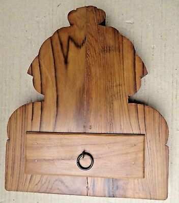 Antique Reclaim  Wood Corbel Corner Sconce Redefine Multi Use Chest Wall Decor-D