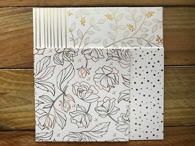 "Stampin' Up! 6x6 Specialty Paper Pack ""Springtime Foils"""