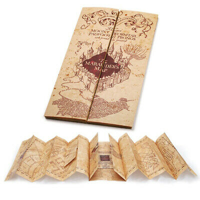 Movie Harry Potter Hogwarts The Marauder's Map of Wizarding World Magic Gift New