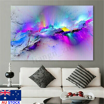 Modern Abstract Cloud Colorful Painting Canvas Print Wall Art Office Home Decor
