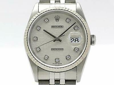 new style d0bb9 27231 ROLEX WATCH DATEJUST men's watch 10P diamond computer K18WG / SS 16234G (T)  Used