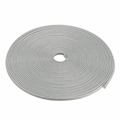 4mm Dia Tight Braided PET Expandable Sleeving Cable Wire Wrap Sheath Gray 10M