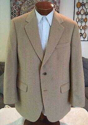 Brooks Brothers Mens Beige 100% Camel Hair 2 Btn Blazer Sz 40 41 42 R MINT!