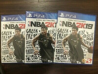 Lots Of (3) Nba 2K19 Ps4 Standard Edition..brand New Sealed..fast Shipping