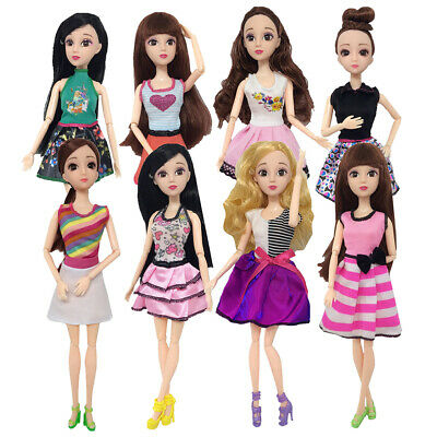 Beautiful Handmade Fashion Party Clothes Dress For Doll Cute Lovely Decor Gift