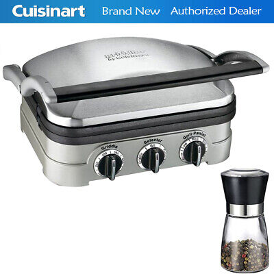 Cuisinart GR-4N Multifunctional Griddle, Grill and Panini Press w/ Spice Mill