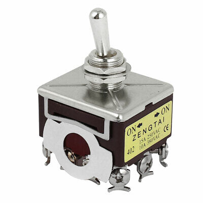 AC 250-380V 10-15A ON/OFF/ON 3-Position 4PDT 12 Terminals Latching Toggle Switch