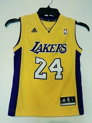 1b854443cf16 LAKERS Kobe Bryant  24 NBA Jersey Size Small Youth LA Los Angeles Adidas