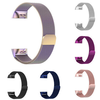 1Pc For Fitbit Charge 3 Strap Replacement Band Stainless Steel Magnetic Sightly