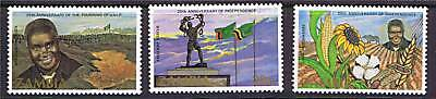 Zambia 1984 Anniv.of Independence SG 417/9 MNH