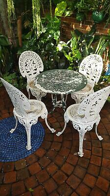 Vintage Cast Aluminium Garden Chairs and Table