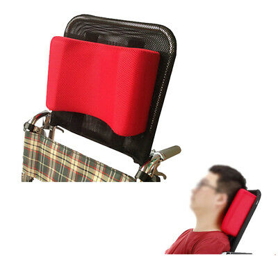 Neck Support Wheelchair Headrest Head Padding Portable Adjustable Cushion Red
