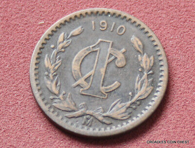 Mexico Bronze 1 Centavos 1910  Good Condition  World Coin #pdg3