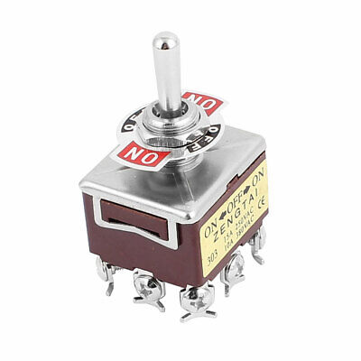 AC 250V 15A 380V 10A 9 Terminal ON-OFF-ON 3 Position 3PDT Latching Toggle Switch