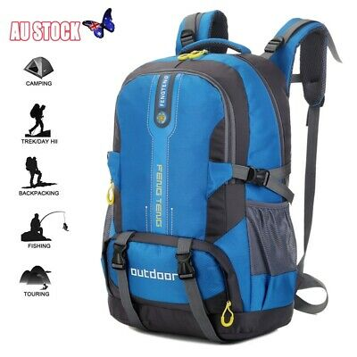 50L Hiking Backpack Outdoor Camping Travel Sports Climbing Bag Rucksacks AU