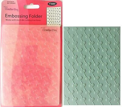 A6 Embossing Folder *HEART BACKGROUND* Card Making, Scrapbooking Hearts