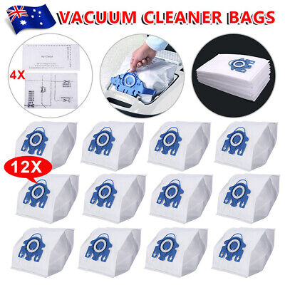12 Vacuum Cleaner Bags+ Filters Fit Miele 3D GN COMPLETE C2 S2 S5 S8 S5210 S5211