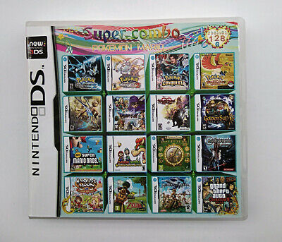 Video Game DS 3DS Cartridge Card Game Console 208 In 1 MULTI CART